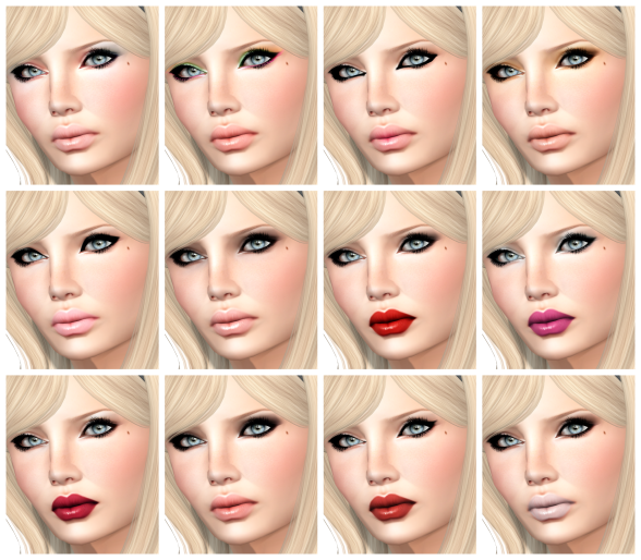 Arcade Make up Collage
